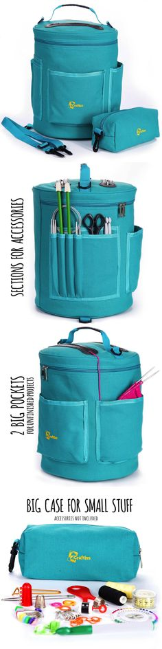 Totes and Cases 83927: Yarn Storage Knitting Bag, Durable Canvas Storage Yarn Bag, Crochet Yarn Holder -> BUY IT NOW ONLY: $31.5 on eBay!