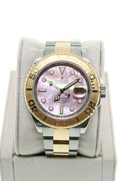 Rolex Yachtmaster Two Tone 16623 Tahitian MOP Dial Gents Watch