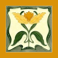"11 Original Art Nouveau tile by Rhodes (1907). Courtesy of Robert Smith from his book ""Art Nouveau Tiles with Style""."