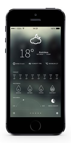 Weather iPhone Application Concept by Peter Androvics, via Behance