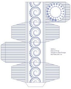 Spiral dot Box template