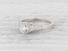 .74 Carat Edwardian Diamond Engagement Ring