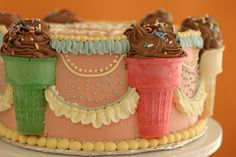 Ice Cream Cone Cake...this is so cute, I might have to make it for my own birthday!