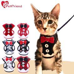 Cat/ Dog Harness Tuxedo Bowtie Jacket+Leash Set http://memypet.shop/products/cat-dog-harness-vest-with-leash-bowtie?utm_campaign=crowdfire&utm_content=crowdfire&utm_medium=social&utm_source=pinterest