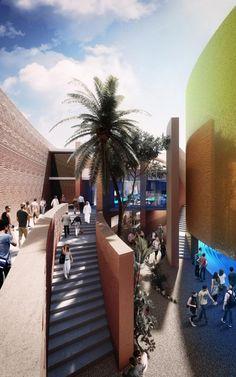 Padiglione Emirati Arabi Uniti per #Expo2015  Come si vive nel deserto? In questo padiglione lo puoi sapere, un esperienza unica.  http://bit.ly/architettura_Maggio