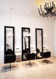 Hairdresser interior design in Bytom POLAND - archi group. Salon fryzjerski w Bytomiu.
