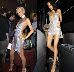 Paris Hilton in her birthday party dress by Julien Macdonald and Kendall Jenners homage to Hiltons look at her own Sexy Outfits, Sexy Dresses, 2000s Fashion, Fashion Show, Fashion Fashion, Look Disco, Rich Girls, Vestidos Sexy, Sugar Baby