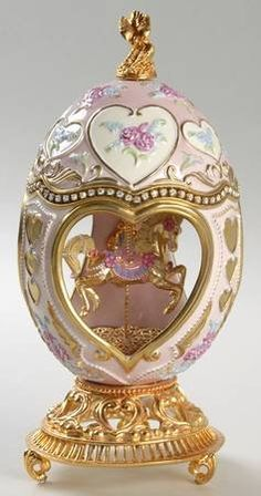 Franklin Mint House of Faberge Summertime Carousel - Boxed Fabrege Eggs, Objets Antiques, Faberge Jewelry, Egg Crafts, Franklin Mint, Egg Art, Russian Art, Egg Decorating, Literary Tattoos