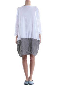 DANIELA GREGIS - Bi-Fabric Boxy Dress