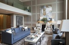 The Lancasters Hyde Park London. Interior Design by Lawson Robb. Bespoke sofas & Christo chair supplied by The Sofa & Chair Company.