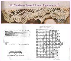 MIRIA CROCHÊS E PINTURAS: BARRADOS DE CROCHÊ N°403