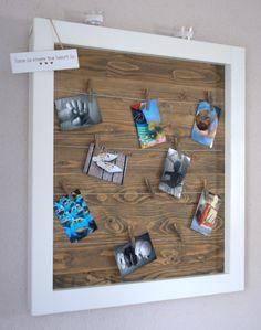 (Deko/Pinnwand/Memobord) Bilderrahmen - Großer weißer Fensterrahmen aus Holz - ein Designerstück von GrinseHasi bei DaWanda