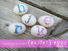 A great idea for an Easter Egg hunt, personalised eggs!