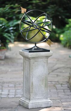Armillary | Garden Accents and Statuary,Armillaries/Sundials | Charleston Gardens® - Home and Garden Collection Classic outdoor and garden furnishings, urns & planters and garden-related gifts