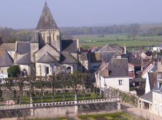 Village of Villandry, from the castle. Loire Valley, France