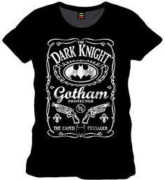Superman Mens Batman Gotham Protector T Shirt Small Black @ niftywarehouse.com