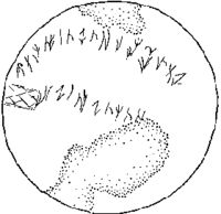 Drawing of the Issyk inscription