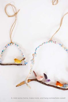DIY Twig Decorations - The Cakies 'Sweet Bird Hanging' is a Fun Project for the Home (GALLERY)