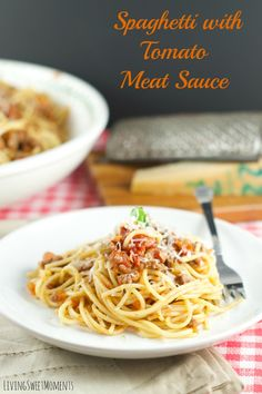 ... easy to make Spaghetti with meat sauce is the perfect quick weeknight