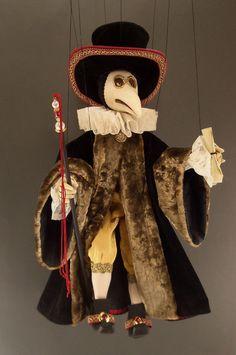 Large Venetian Plague Doctor Marionette