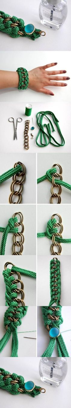 DIY Beautiful Green Braided Bracelet | iCreativeIdeas.com Like Us on Facebook ==> https://www.facebook.com/icreativeideas