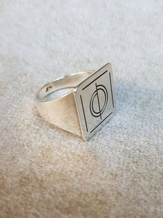 Gift for Dad Silver Personalized Ring Stackable ring boyfriend gift,Bohemian Jewelry Chinese Patten Silver Ring