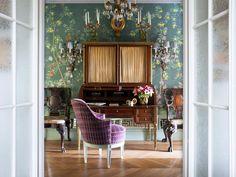 Фото интерьера кабинета небольшой квартиры в стиле фьюжн