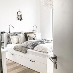 Brimnes Bed Frame With Storage White Luroy Some Things
