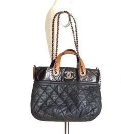 CHANEL bag iridescent distressed leather shoulder tote  #CHANEL #Shoulderandhand available online ebay mightykismet