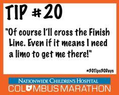 Tip #20: If you can't go on, go out in style! Hop in the SAG wagon in case ofinjury. #30Tips30Days