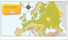 El relieve y los ríos de Europa (Actividad interactiva de Geografía) Diagram, Maps, Science Area, Interactive Activities, Teaching Resources, Social Science