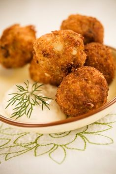 Crab Balls - Tiffany's Seafood in Charlottesville has the BEST crab balls - this is the first time I have ever seen a recipe for them - can't wait to try it!