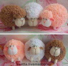 """Купить """"Барашки"""" вязаные игрушки - вязаная игрушка, игрушка, овца, овечка, овен, баран, барашек"""