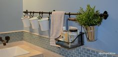 organize the bathroom! fintorp rail system | Ikea