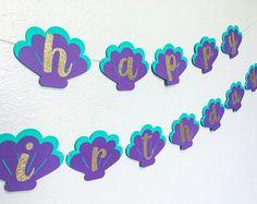 New Ideas birthday banner ideas signs parties decorations Mermaid Happy Birthday, Mermaid Birthday Decorations, Happy Birthday Princess, Diy Birthday Banner, Mermaid Themed Party, 3rd Birthday, Birthday Ideas, Little Mermaid Cake Topper, Little Mermaid Parties