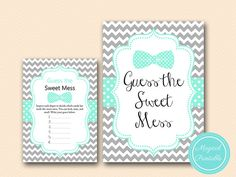 Sweet Mess Guess the Sweet Mess Dirty Diaper by MagicalPrintable