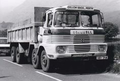 B/W PHOTO GILLON BROS (PERTH) SCAMMELL ROUTEMAN 8 WHEEL TIPPER - VBY 714M #Notapplicable Vintage Trucks, Old Trucks, Old Lorries, Perth, Transportation, Vehicles, Photos, Pictures, Car