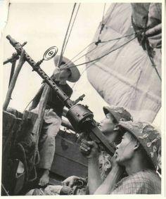Viet Minh and german MG34 gun - first Indochina war