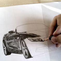 New work on the way. A nice BMW z4  #art #artist #artwork #artistic #drawing #car #cardrawing #carart #bmw #z4 #luxury #expensive #cabrio #coupe #black #graphite #pencil #pinterest #iphoneography