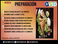 La preparación de este pescado relleno #algrill, aquí: