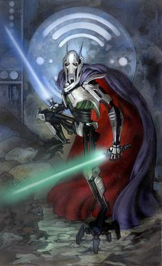 Star Wars Illustrations by Terese Nielsen /// General Grievous