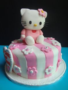 Yummy Baking: Hello Kitty Fondant Cake (D2)