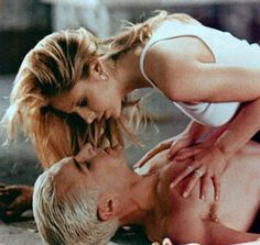 Spike and Buffy-I liked them as a couple more than Buffy and Angel because he loved her even when he didn't have a soul.