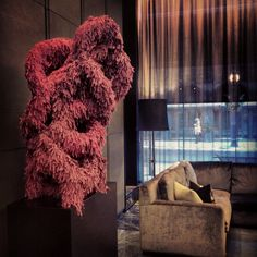 Great new sculpture by Jaime Angelopoulos in the Hazelton Hotel lobby