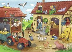 TOUCH this image to discover its story. Image tagging powered by ThingLink Ravensburger Puzzle, Puzzles, English Lesson Plans, Farm Activities, Phonics Reading, Picture Boards, Drawing For Kids, Craft Work, Nursery Rhymes