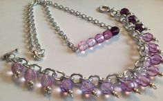 Ombre in Purples Necklace and Bracelet Set $36.00