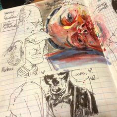 chrisvisions: Flashback Friday | Moebius, Mignola and Jenny Saville studies, 2013 #sketchbook #fbf #art #brainstorming