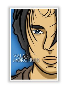 Valar Morghulis Arya Stark Game Of Thrones Poster
