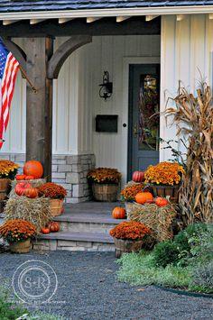 Serendipity Refined Blog: Farmhouse Fall Porch Decor