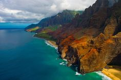 Jurassic Park and Jurassic World Filming Locations in Kauai and spectacular pictures of Na Pali coast Best Vacation Destinations, Romantic Destinations, Dream Vacations, Vacation Trips, Vacation Spots, Vacation Travel, Hawaii Travel, Romantic Vacations, Vacation Ideas